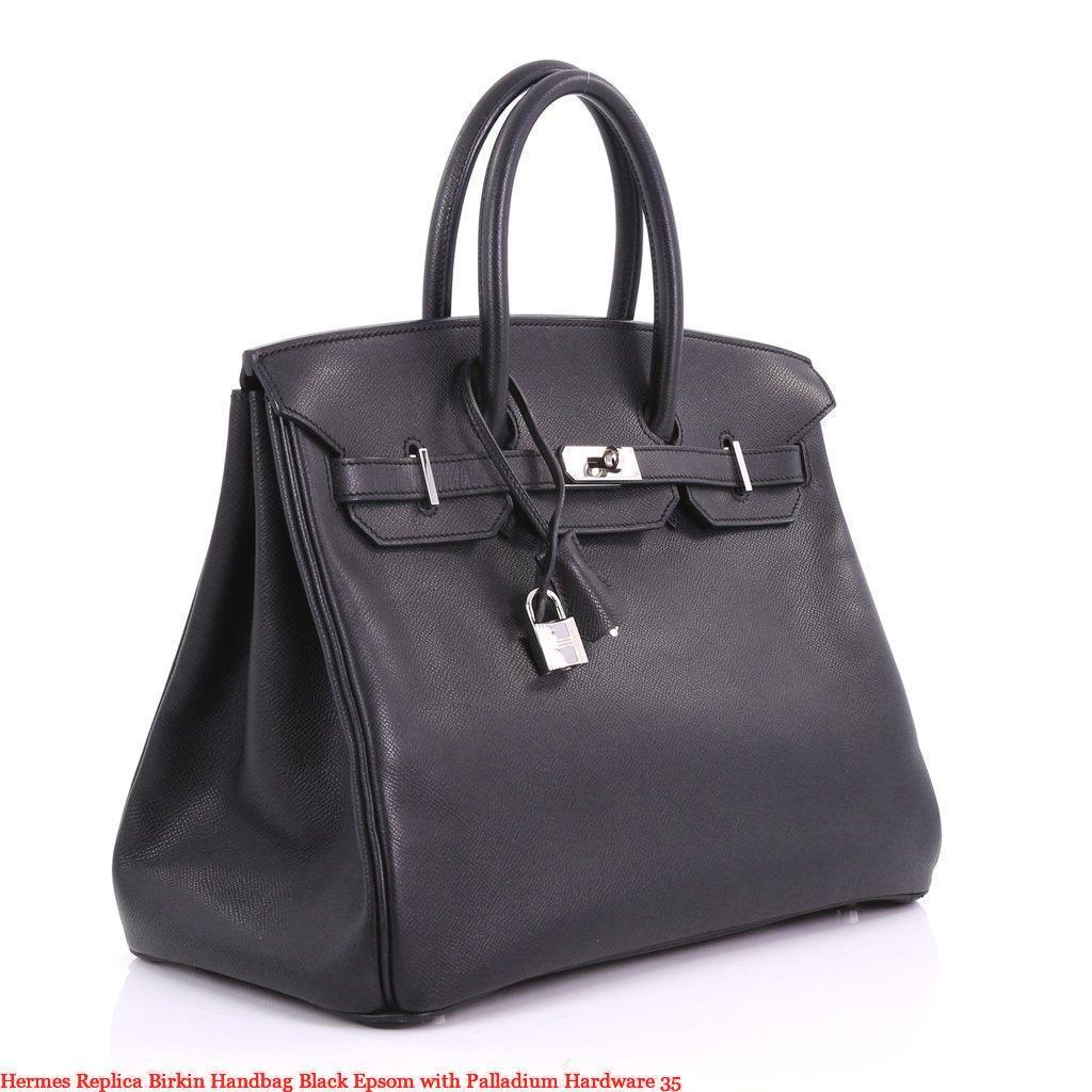fbd2feba57 Hermes Replica Birkin Handbag Black Epsom with Palladium Hardware 35 –  Hermes Replica Handbags Imitation Replica Hermes Purses Store