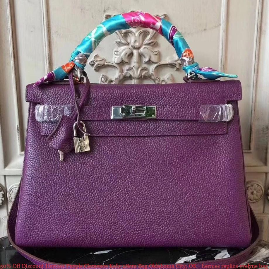50% Off Discount Hermes Purple Clemence Kelly 28cm Bag Oklahoma City ... d5bbc304be338