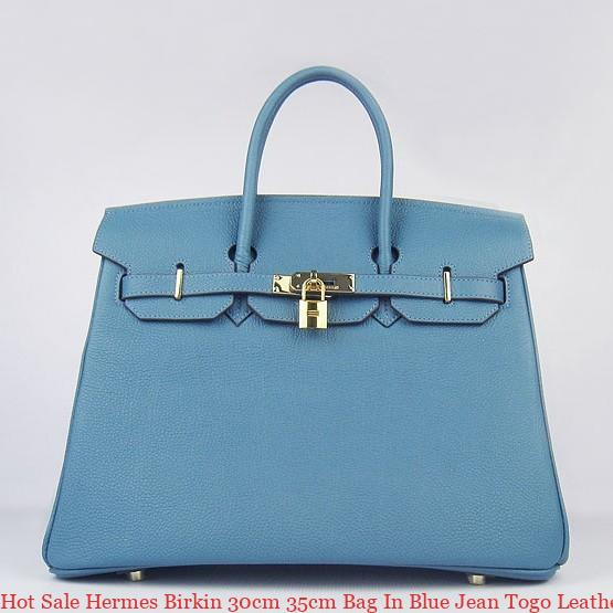 6c66f0d377c Hot Sale Hermes Birkin 30cm 35cm Bag In Blue Jean Togo Leather Tulsa ...