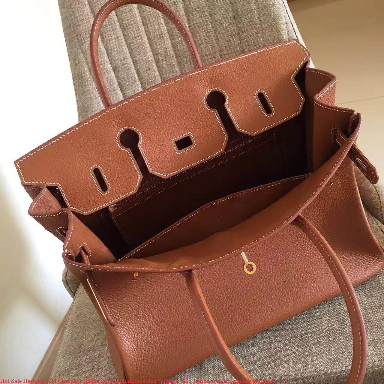bc0408af60b6 Hot Sale Hermes Gold Clemence Birkin 30cm Handmade Bag Wichita