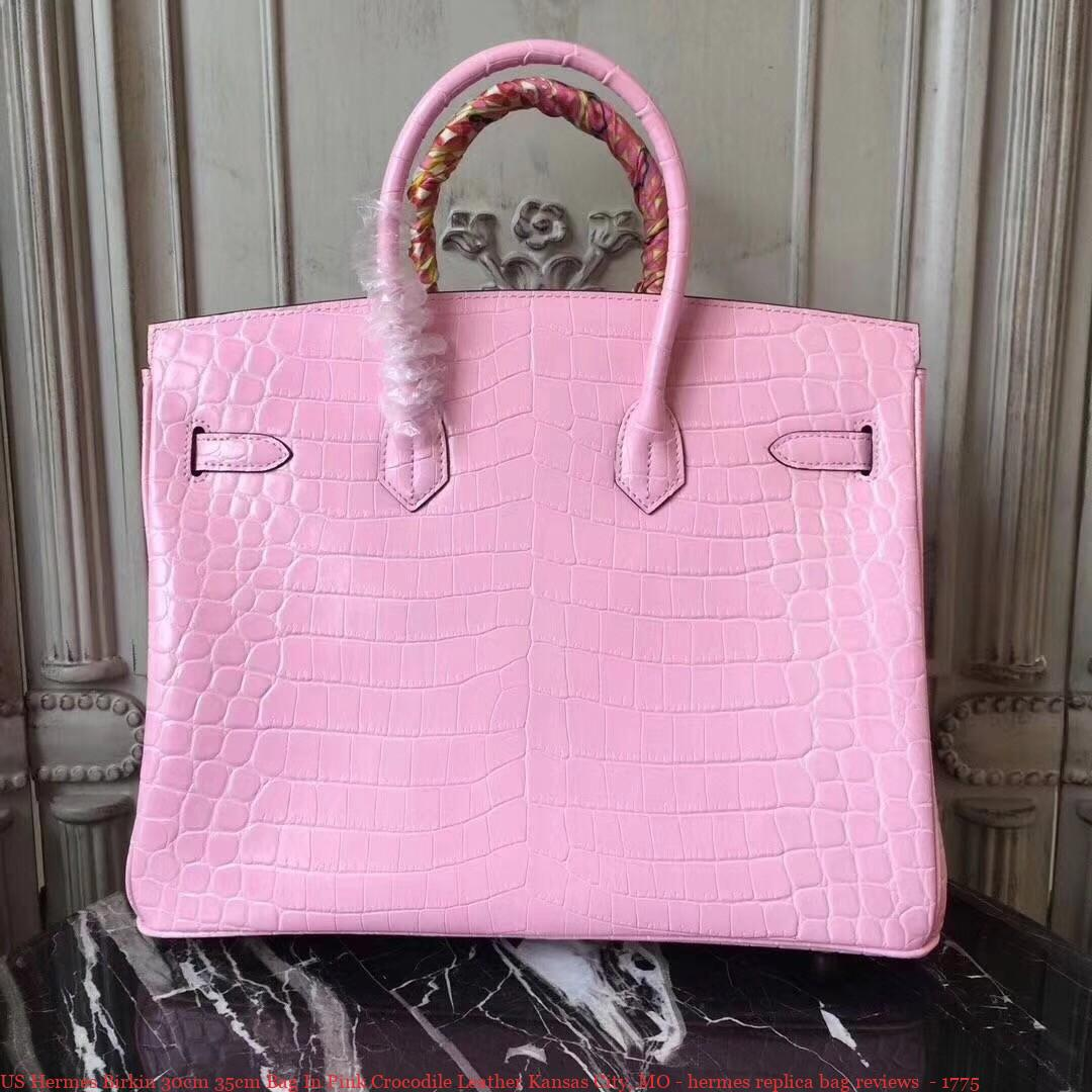 4d088e19fa US Hermes Birkin 30cm 35cm Bag In Pink Crocodile Leather Kansas City ...
